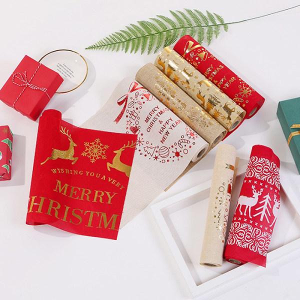 Bärbar elegant julbordsmatta bordsduk julhem