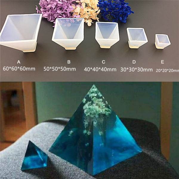 Pyramid silikonform DIY DIY harts dekorativa mögel smycken