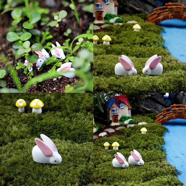 Rabbit Fairy Garden Ornaments Harts Miniature Garden Figurines