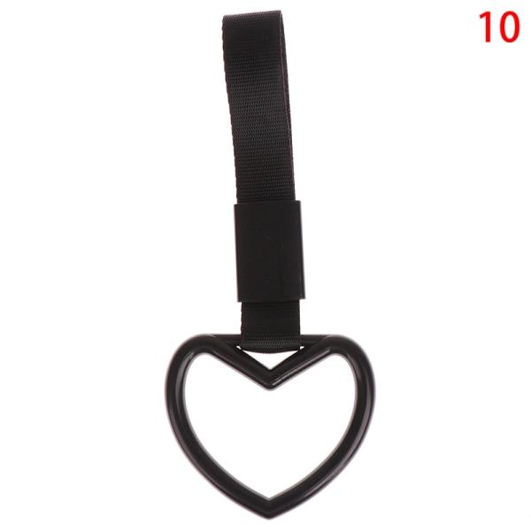 ring hjärta band drift charm armband varning hängande ring electros 10(Black Black)