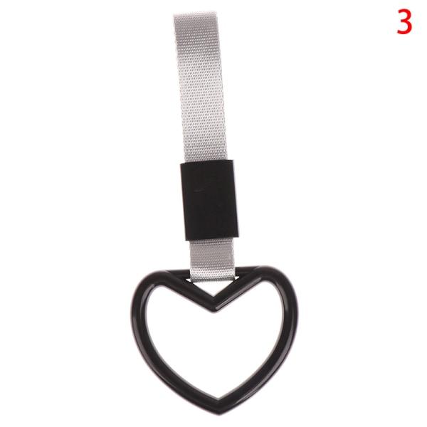 ring hjärta band drift charm armband varning hängande ring electros 3(Black Gray)
