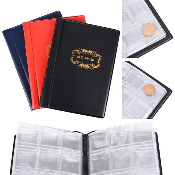 Ryska myntalbumet 10 sidor 120 fickor myntsamling Book Co.