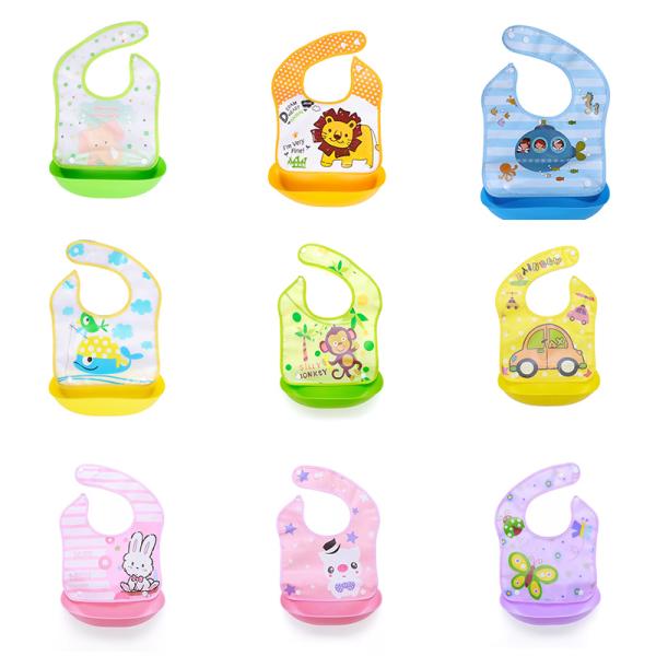 säkerhetstecknad utskrift baby haklappar pojke flickor haklapp silikon barn