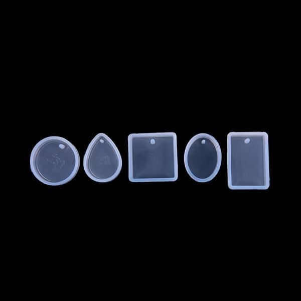 Silikonform DIY Smycken Hängsmycke Charm Making Mold med Hangi