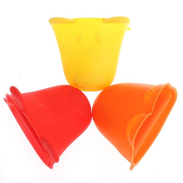 silikon värmeisolering ugn mitt handske gryta panna potten hålla Red