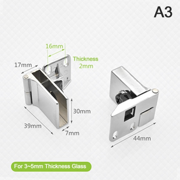 skåp hårdvarufritt glas gångjärn upp och ner glaskoppling värme A3