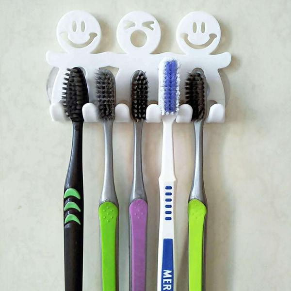 Smile FaceToothpaste Tandborstehållare Väggmonteringshängare Hem B
