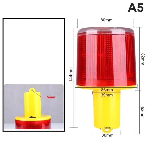 soldriven ledd trafik strobe varningslampor flimmer fyr A5
