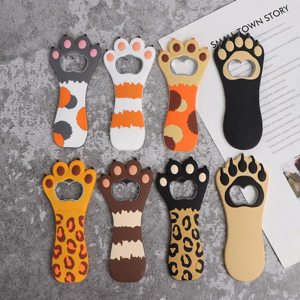 söt tecknad djur tass design flasköppnare med magnetisk refri D