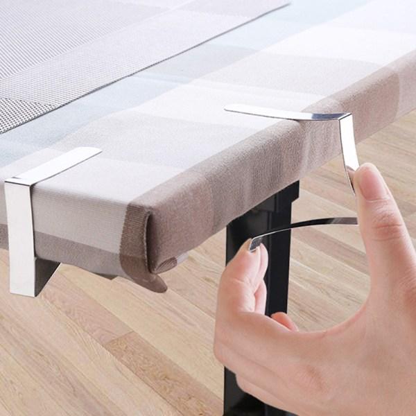 Bordsdukbord i rostfritt stål Täckklämma Hållare Tygklämma
