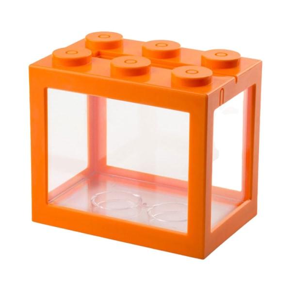 stapelbara byggstenar ekologiska akvariet akvarium liten re Orange