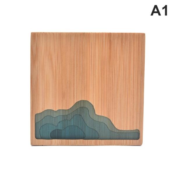 underlägg placemat bambu te kaffe kopp pad tallrik matta kit A1