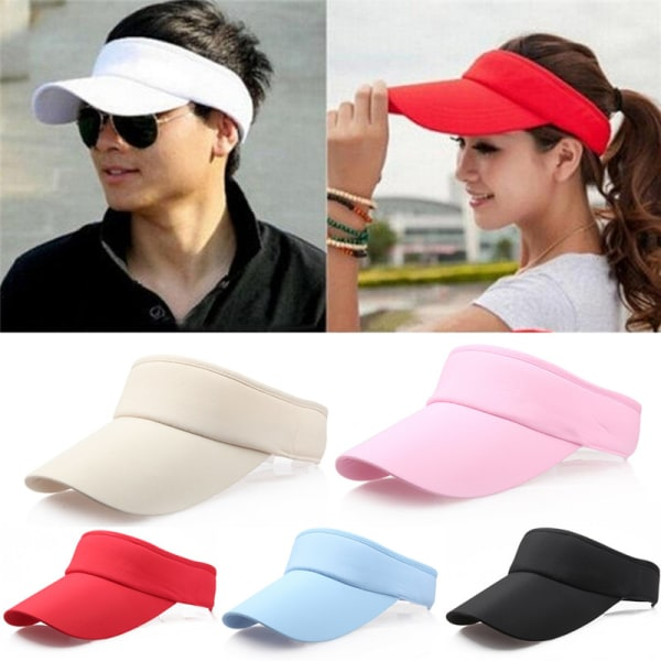 Visir Sun Plain Hat Sportkeps Färger Golf Tennis Beach Adjusta