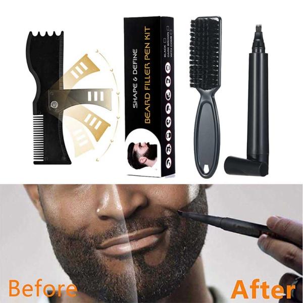 Vattentät skäggpåfyllningssats Salon Makeup Makeup Enhancer