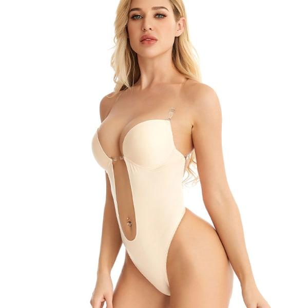 Kvinnor sömlös underkläder Bodysuit Sexig underkläder osynlig bh S
