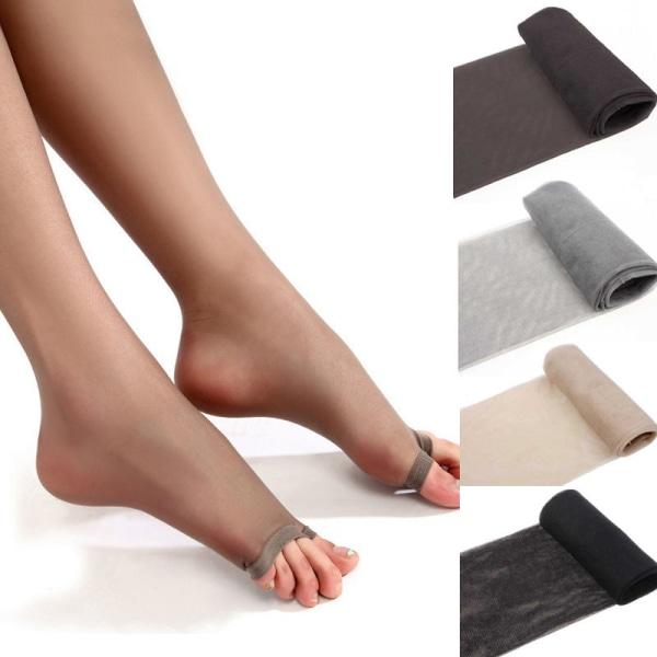 Kvinnor Sheer Ultra-Thin Tights Strumpbyxor Strumpor Open Toe Pant