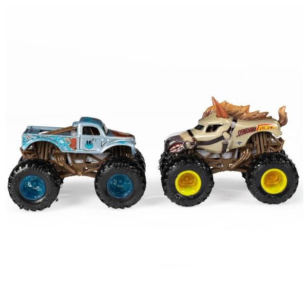 2-pack Hot Wheels Monster Jam Horse Power & W Whiplash Leksaksbi multifärg