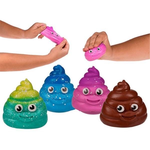 2-Pack Sticky Squeeze Poo Stressboll Klämboll Fidget Toy Stress  multifärg