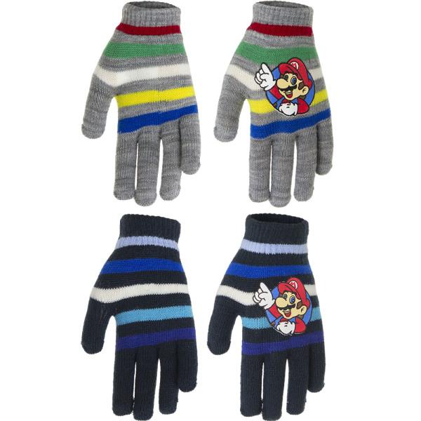 2-Pack Super Mario Vantar Fingervantar One Size Blå one size