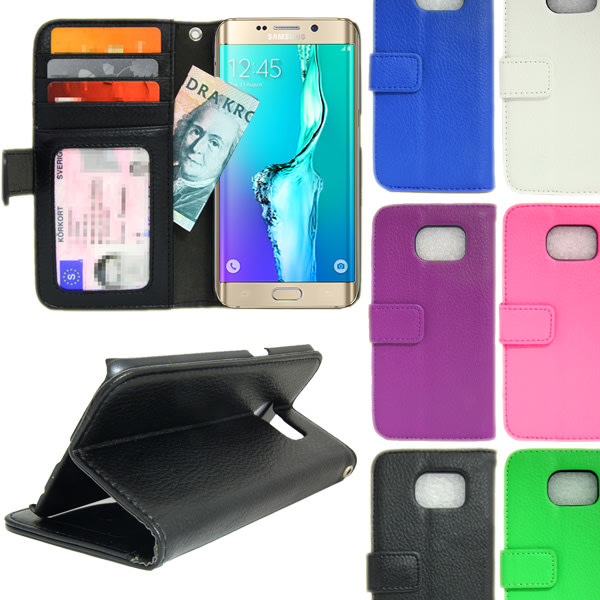 Plånboksfodral Samsung Galaxy S6 Edge+ (PLUS) 4st Kort Blå