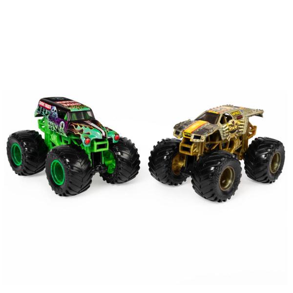 2-pack Hot Wheels Monster Jam Grave Digger & Max-D Leksaksbil 9c multifärg