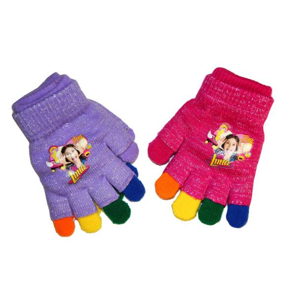 4-Pack 2i1 Fingervantar + Fingerlösa Vantar Soy Luna Rainbow Gli Rosa one size