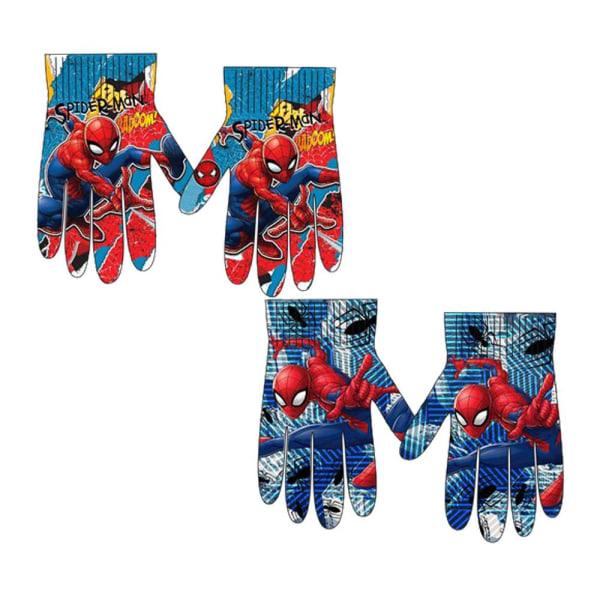 2-Pack Spider-Man Spindelmannen Vantar Fingervantar One Size multifärg one size
