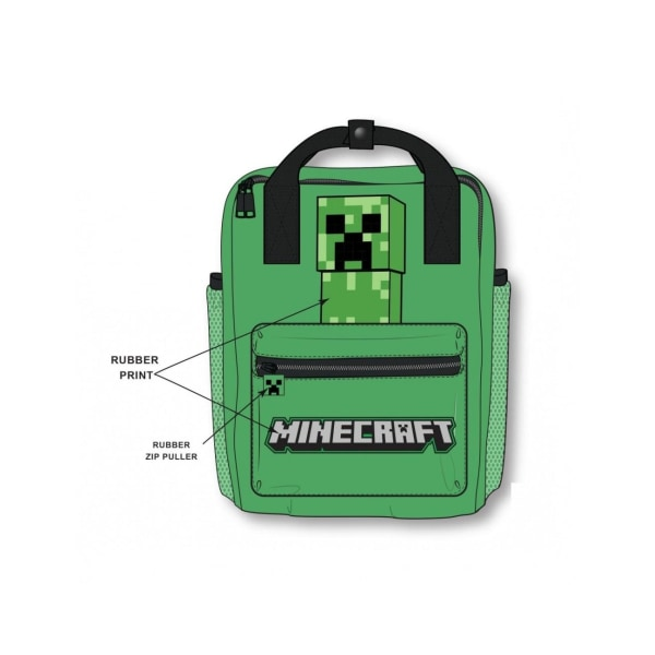 Minecraft Creeper Backpack Skolväska Ryggsäck Väska 38cm multifärg one size
