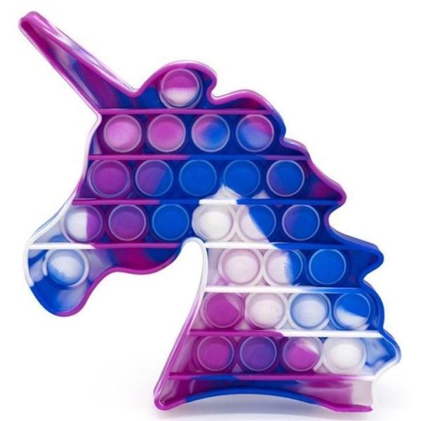 Fidget Toy Pop It Leksak Stress Relax Färgglad Unicorn Enhörning multifärg