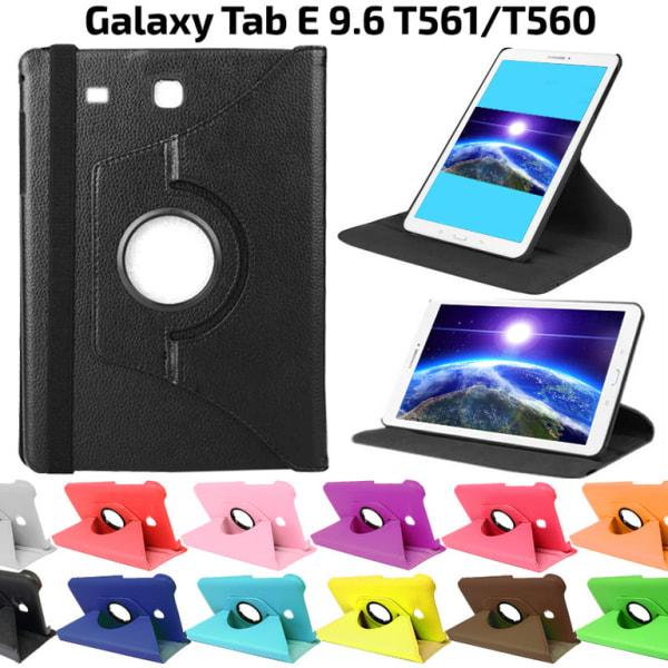 360° Flexibel Rotation Fodral Till Samsung Galaxy Tab E 9.6 Svart