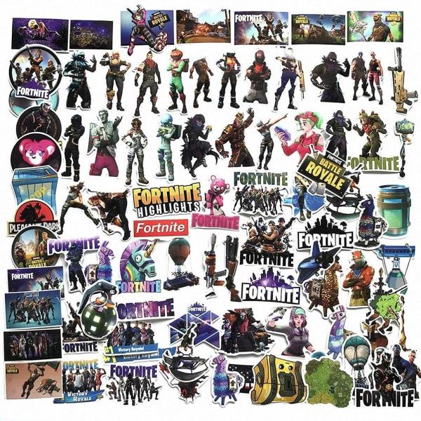 45st Fortnite Stickers Set Klistermärken Vinyl Blå