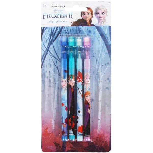 4-Pack Disney Frozen 2 Frost Pop-Up Pencils Pennor Stapel multifärg