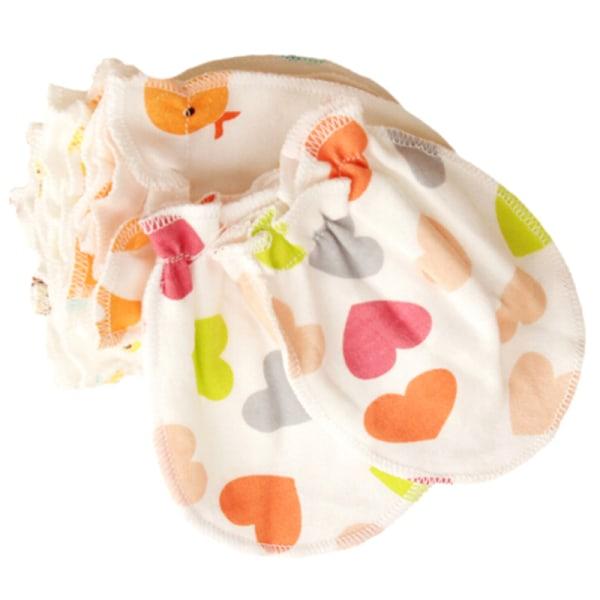 1 par nyfödd babyflicka / pojkehandske spädbarnsbomull