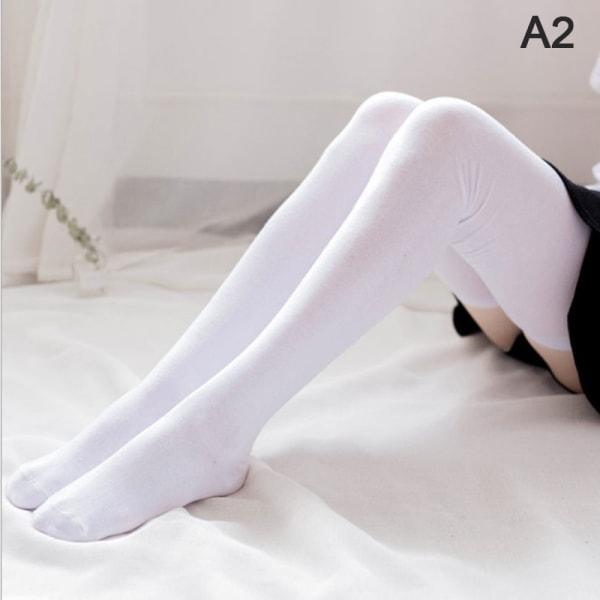 1 par 80 cm superlånga bomullsstrumpor Kvinna över knäet varmt lår