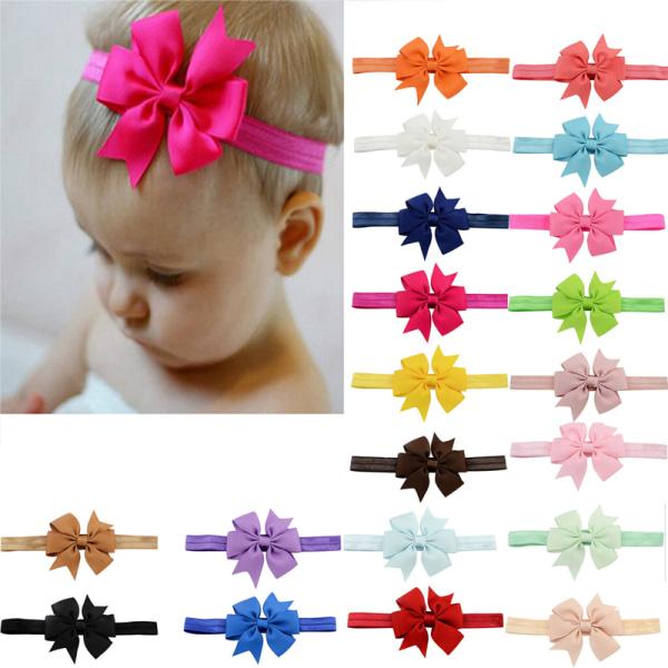 20 st / mycket tjejhårbåge pannband elastiska hårband för nyfödda