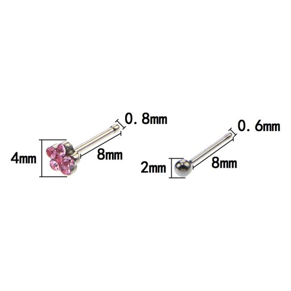 20st stål näsbultar ringar kroppssmycken näsa piercing ring sex