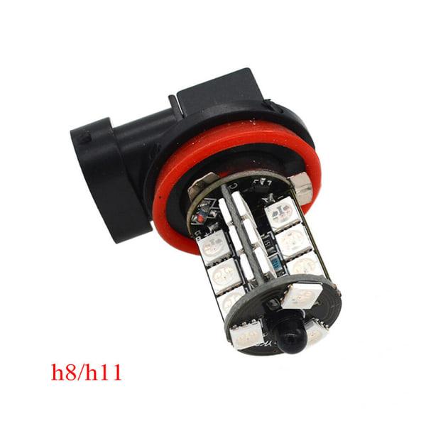 2x H11 H8 H9 5050 LED 27SMD RGB Bilstrålkastare Dimstrålkastare La