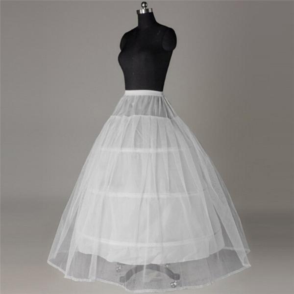 3 bågar för underkläder för bröllopsklänning krinolin för balklänning