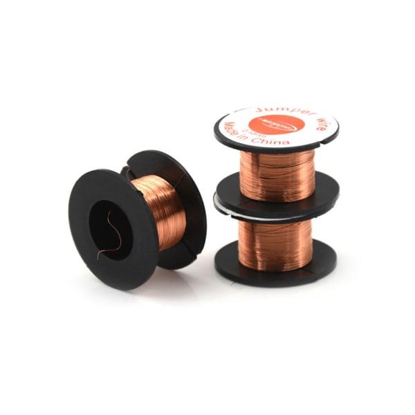 3-rullmagnettråd AWG-mätare emaljerad kopparspirallindning 0,1 mm