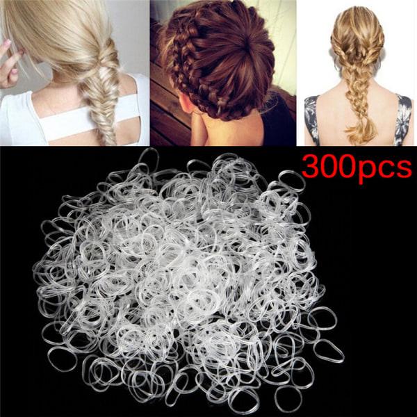 300st Gummiflätning av flätat hårband Hairope elastisk slipsponny