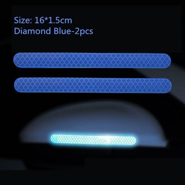 användbar 2st färg säkerhetsmärke reflekterande remsor bildörrklistermärke Green