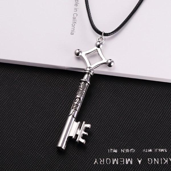 Attack On Titan Eren Jaeger Necklace Key Chain Pendant PU Leathe