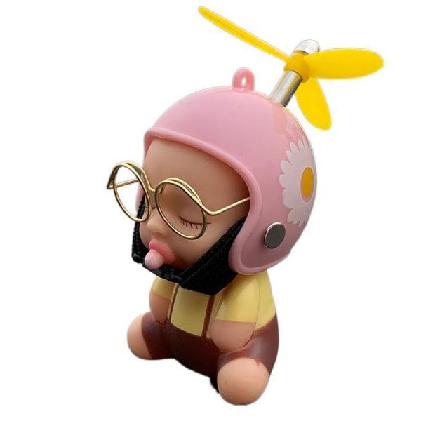 bil leksak anka napp baby docka söta barn med hjälm för bil ac 2