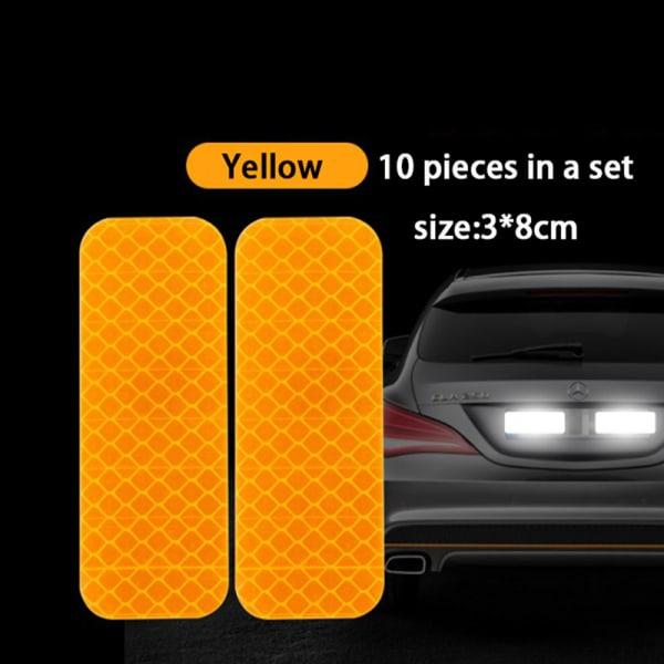 bildörrklistermärke dekal varningsmärke tejp reflekterande klistermärke ref Yellow