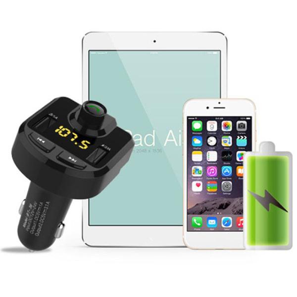 Bluetooth LCD Trådlös bil MP3 FM-sändare Radio USB-laddare