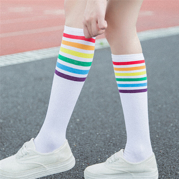 Mode bomull Sexiga tjejer damer strumpor långstrumpa för tjejer