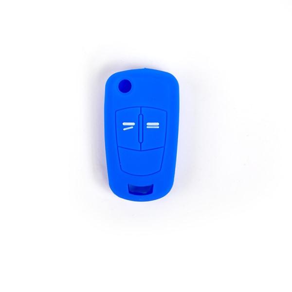 het silikon bilnyckel fodral skal fob för vauxhall knappar Blue