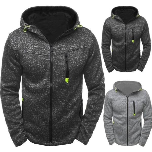 Herrjacka Hoodie Fleece Zip Up Hoodie Jacket Sweatshirt Hooded Z