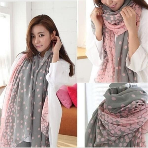 Nytt mode Dam '' 's Lady Long Candy färger Scarf Sjal Wraps