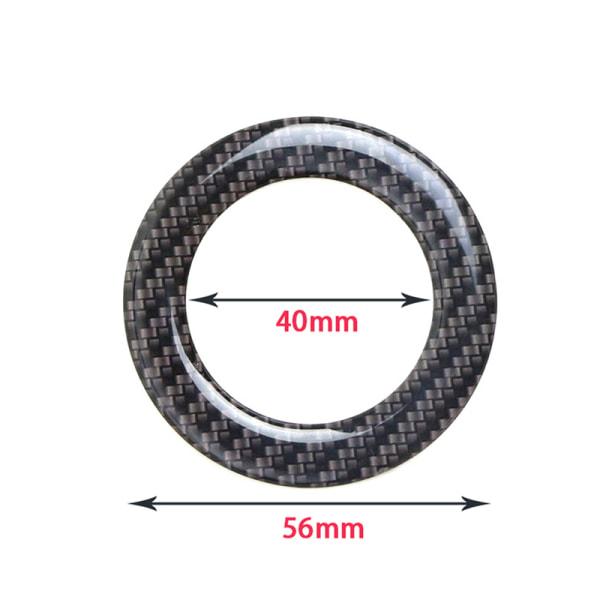 ny bil styling ratt ring fallet dekoration klistermärke vik Carbon Fiber